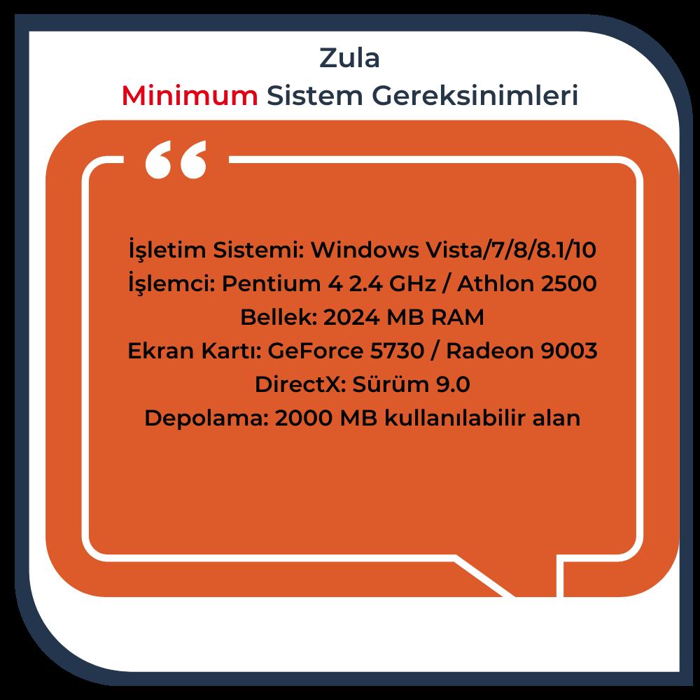 zula minimum sistem gereksinimleri nelerdir?
